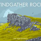 Windgather Rocks, der Peak District von Stephen Millership