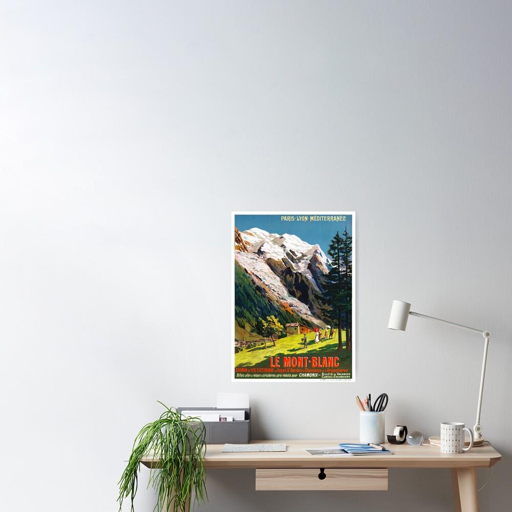 Mont Blanc France Vintage Travel Poster Restored Poster