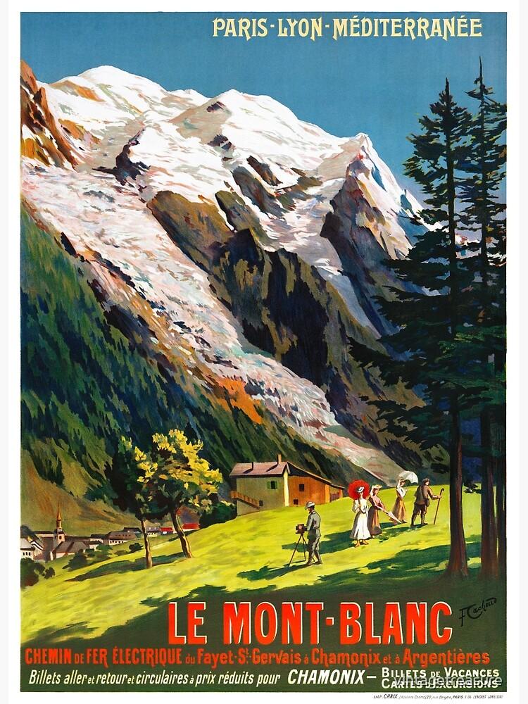 Mont Blanc France Vintage Travel Poster Restored by vintagetreasure