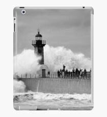 Lighthouse in a storm iPad Case/Skin