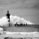 Lighthouse in a storm by gabriellaksz
