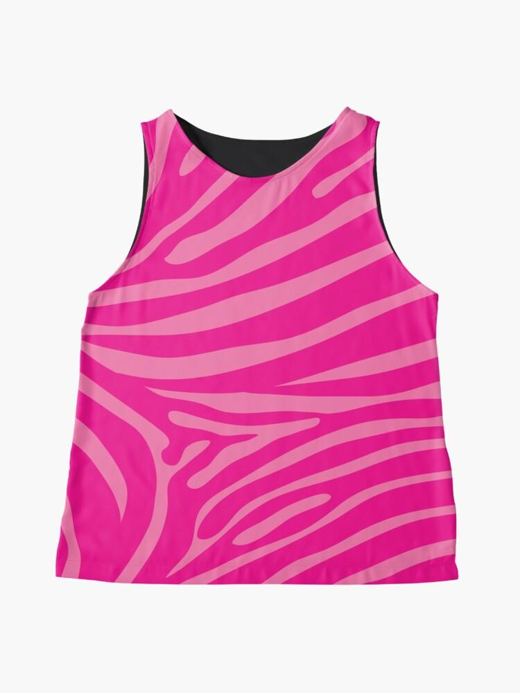 Alternate view of Two Tone Pink Zebra Print Sleeveless Top