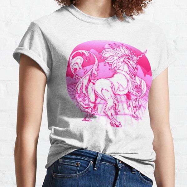 Undead Laser Unicorn (Lineart) Classic T-Shirt