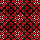 Decorative design ,pattern, textile,cover.Red stars. by starchim01