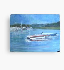 SPEEDBOATS ON LONG ISLAND SOUND Canvas Print