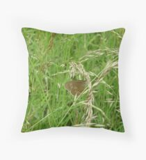 meadow butterfly Throw Pillow