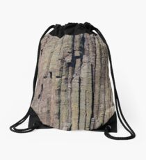 Climbers on Devils Tower Drawstring Bag