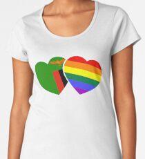 Sambia & LGBT Flagge Premium Rundhals-Shirt