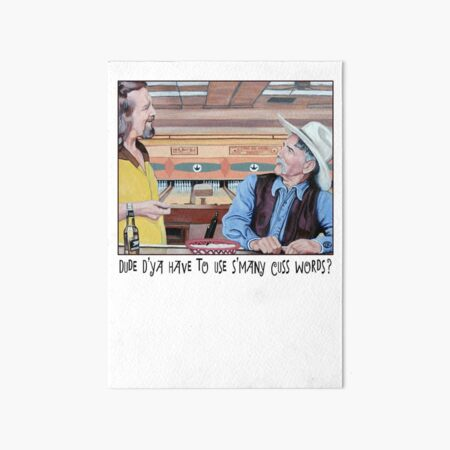 Dude & Stranger Art Board Print