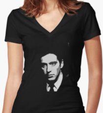 Camiseta entallada de cuello en V El hombre
