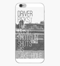 Driver picks the music... iPhone Case