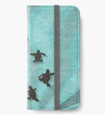 Loggerhead Sea Turtle Hatchlings iPhone Wallet/Case/Skin