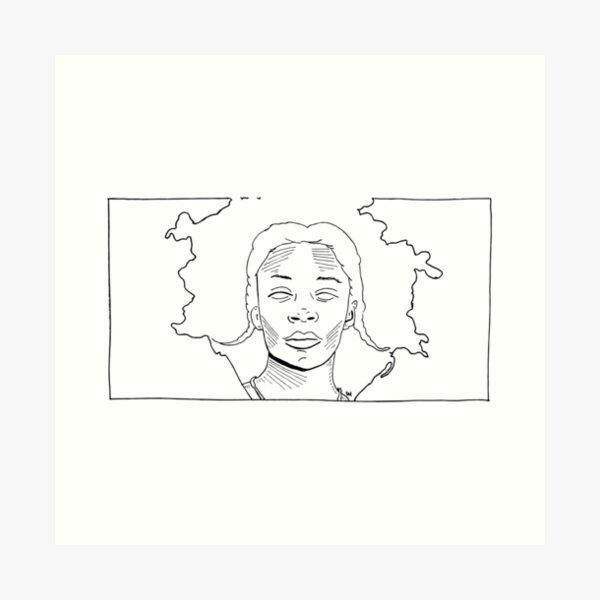2019 03 line art kara walker  Art Print