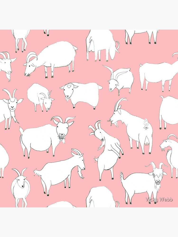 Goats playing - Pink by crumpsticks