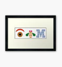 IBM Eye Bee M logo Framed Print