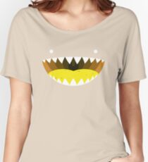 Mouth Tee Yellow Women's Relaxed Fit T-Shirt