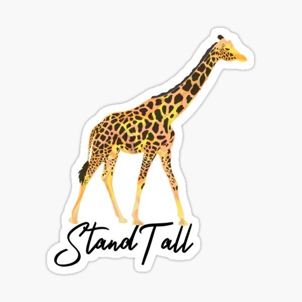 Marble Giraffe Stand Tall Sticker