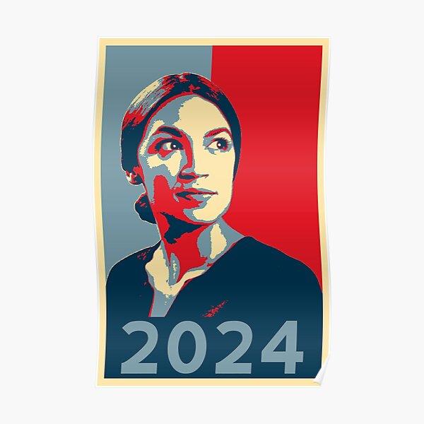 AOC for President 2024 Alexandria Ocasio-Cortez tshirt HOPE Poster