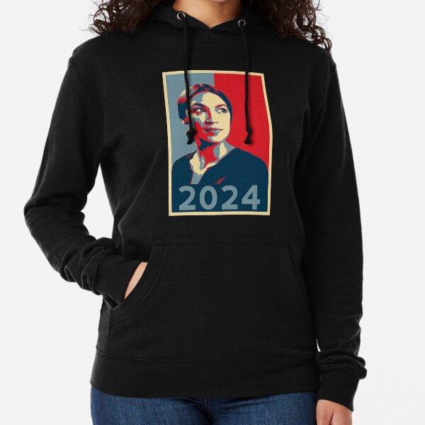 AOC for President 2024 Alexandria Ocasio-Cortez tshirt HOPE Lightweight Hoodie