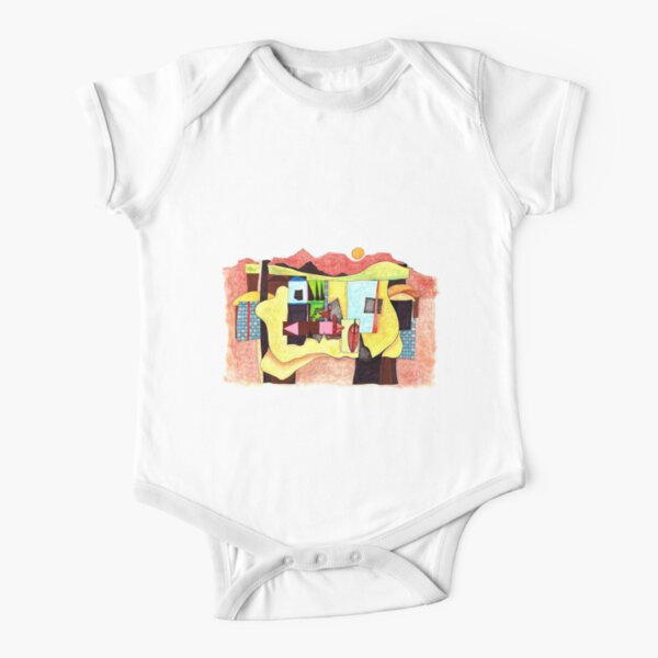 Africa - Landscape Four Short Sleeve Baby One-Piece