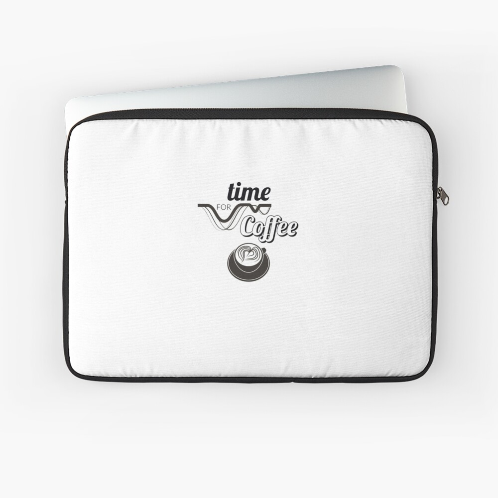 Morning Coffee Time Unisex T-shirt Laptop Sleeve