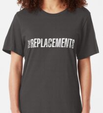 The Replacements - White Slim Fit T-Shirt
