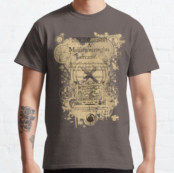 Shakespeare's A Midsummer Night's Dream Front Piece Classic T-Shirt