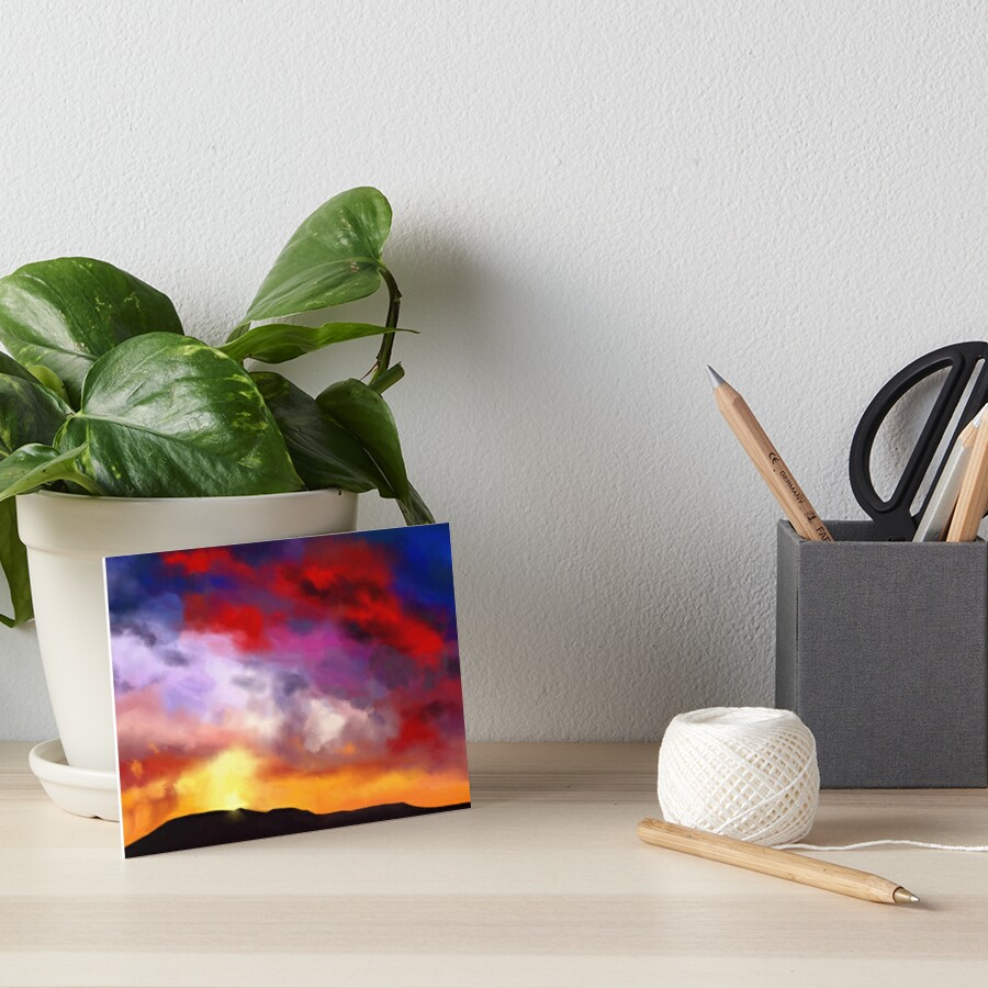 Red Clouds Art Board Print