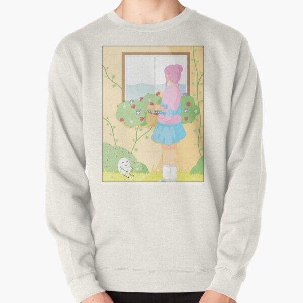 Companions - Strawberry Picking and Daisy Chain Making Pullover Sweatshirt