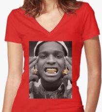 ASAP Rocky Golden Women's Fitted V-Neck T-Shirt