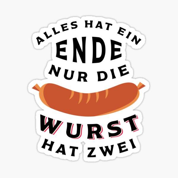 Funny German Wurst Sticker