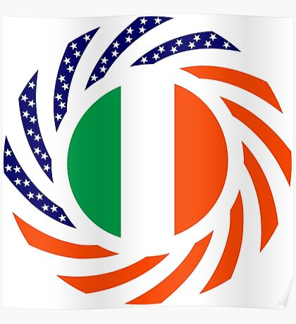 Irish American Multinational Patriot Flag Series Poster