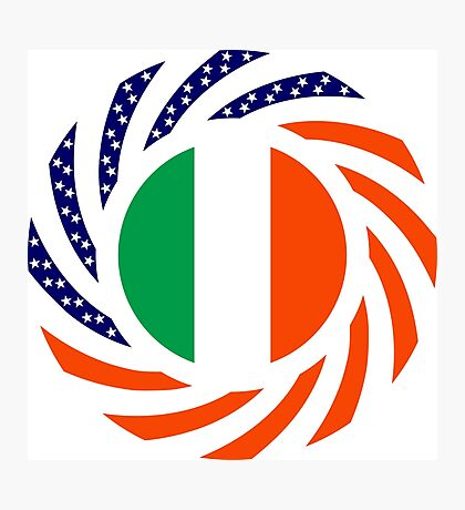 Irish American Multinational Patriot Flag Series Photographic Print