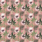 Tropical Pink Flowers  by anabellstar