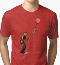 Camiseta de tejido mixto zombi