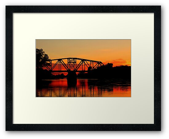 Sunset Over the Taylor Bridge by Larry Trupp