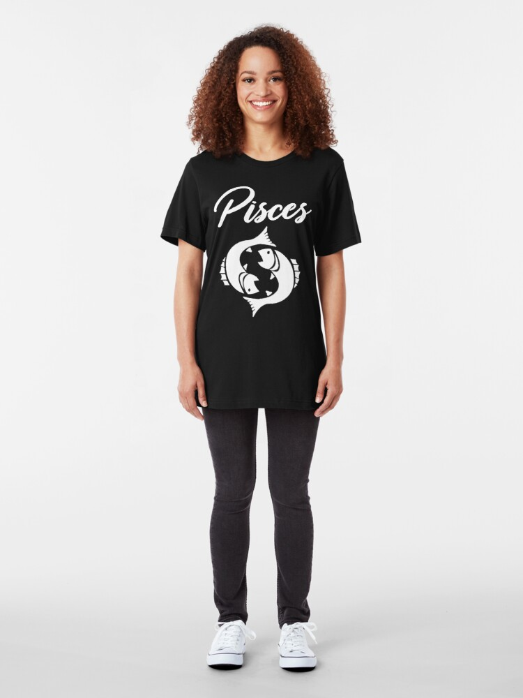 Alternate view of Copy of Pisces T-Shirt Slim Fit T-Shirt