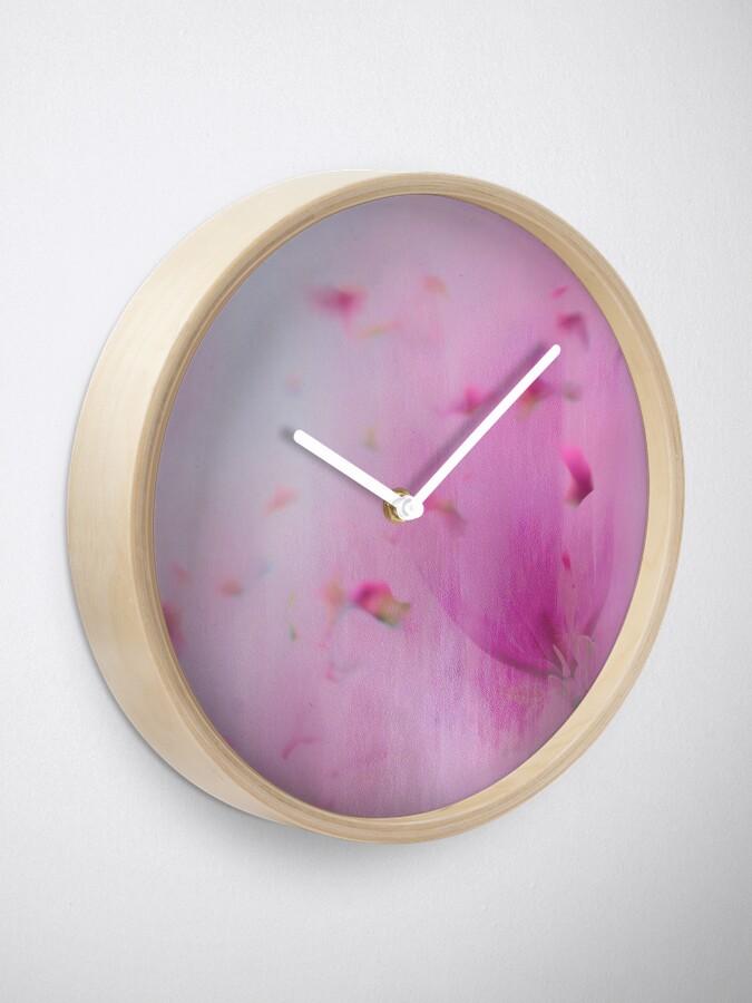 Alternate view of Watercolor Magnolia Clock
