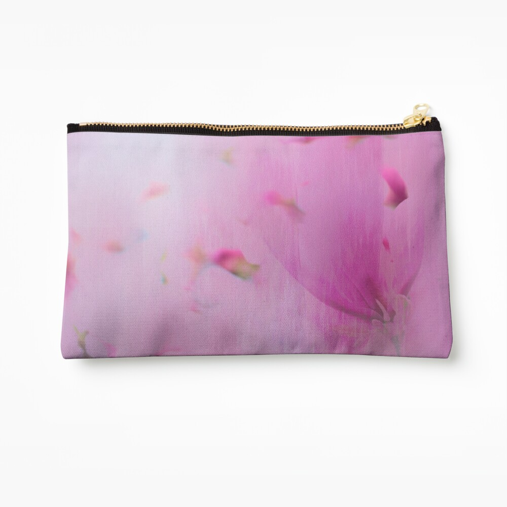 Watercolor Magnolia Zipper Pouch