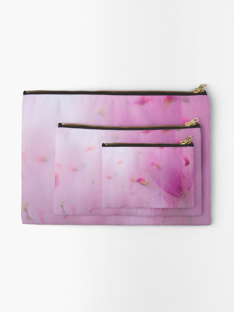 Alternate view of Watercolor Magnolia Zipper Pouch