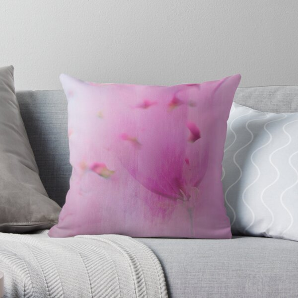 Watercolor Magnolia Throw Pillow