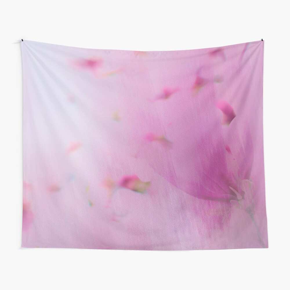 Watercolor Magnolia Wall Tapestry