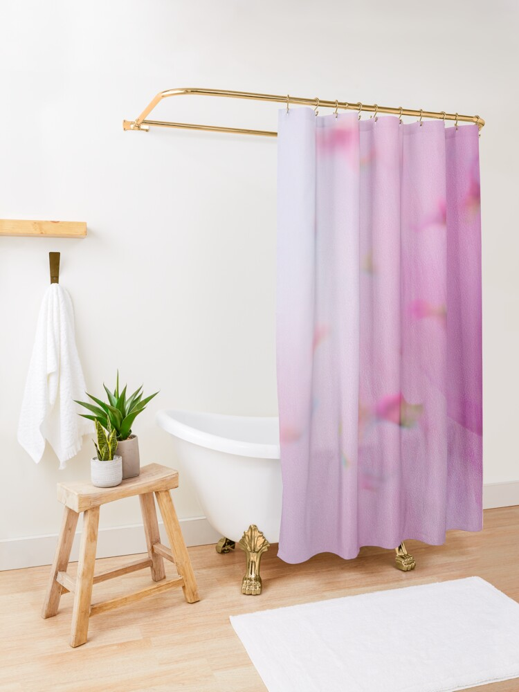 Alternate view of Watercolor Magnolia Shower Curtain