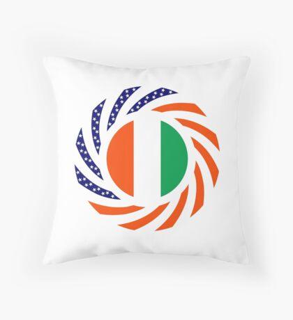 Ivory Coast American Multinational Patriot Flag Series Throw Pillow