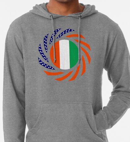 Ivory Coast American Multinational Patriot Flag Series Lightweight Hoodie