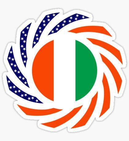 Ivory Coast American Multinational Patriot Flag Series Sticker