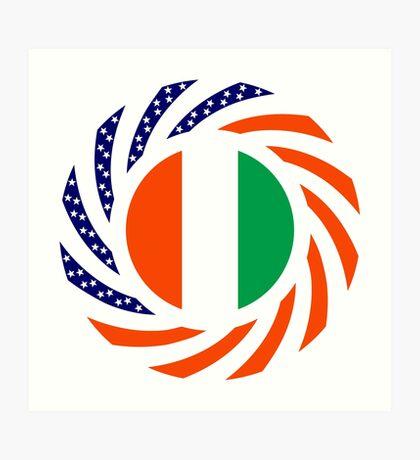 Ivory Coast American Multinational Patriot Flag Series Art Print