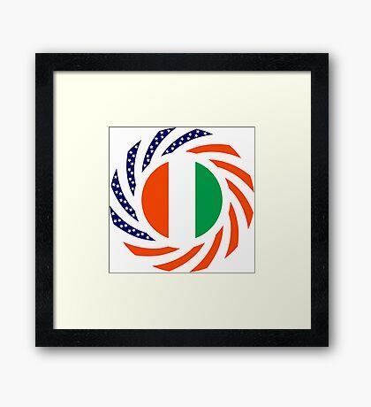Ivory Coast American Multinational Patriot Flag Series Framed Print