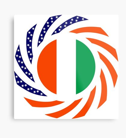 Ivory Coast American Multinational Patriot Flag Series Metal Print