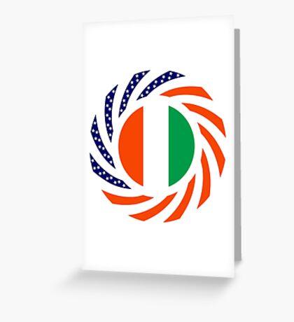 Ivory Coast American Multinational Patriot Flag Series Greeting Card